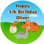 Personalised Edible Dinosaurs Cake Topper